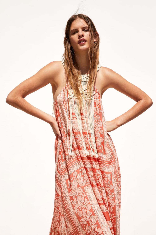 Rochie Combinată Cu Imprimeu Afişare Toate Rochii Femei Promoție Zara România Dresses Womens Dresses Women Dress Online