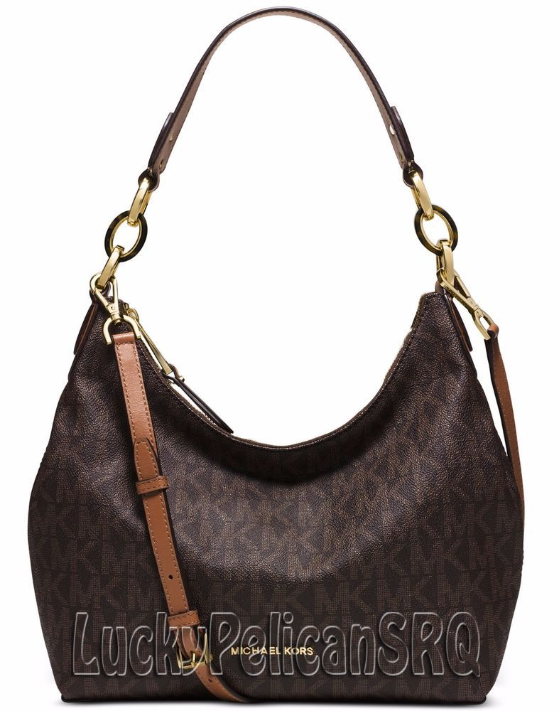 645cca6a3786b6 Michael Kors MK Signature Isabella Medium Shoulder Bag Handbag Brown NWT # MichaelKors #ShoulderBag