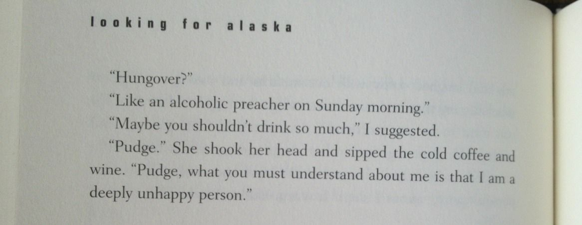 Alaska Quotes Looking For Alaska: Looking For Alaska Quotes With Page Numbers - Google Search