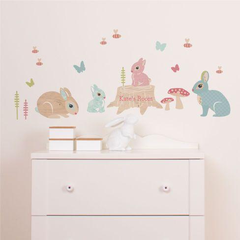 Nursery · bunny family woodland wall stickers wall stickers wall decor tinyme com big girl roomskids