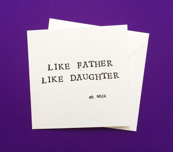 Fathers day card card for dad like father like daughter mature mature birthday card for dad like father like daughter card bookmarktalkfo Image collections