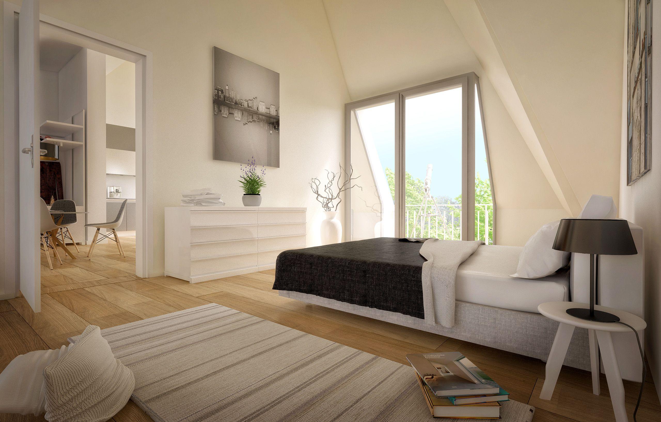 Architekturvisualisierung Berlin interior berlin bedroom friedrichshain danizgerstraße