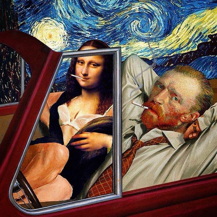 "Errico on Instagram: ""#VanGogh #Monnalisa #StarryNight"" | Art, Pop art,  Surreal art"