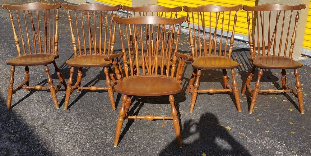 Set Of 6 Vintage S Bent Brothers Bros Colonial Windsor Chairs Fiddle Back Windsor Chair Solid Wood Chairs Chair