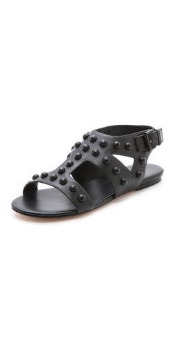 Isa Tapia Geri Studded Flat Sandals | SHOPBOP