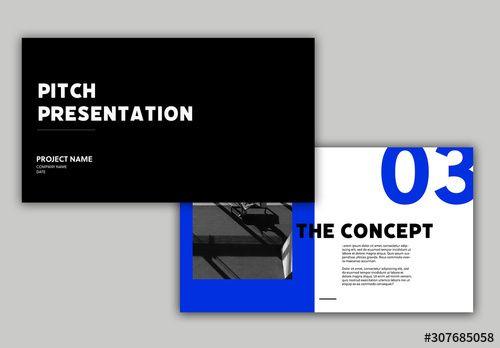Bold Black and Blue Presentation Layout