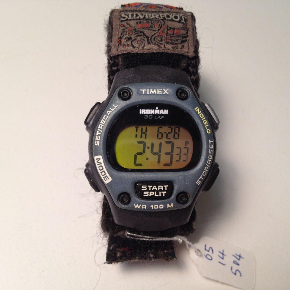 Timex Ironman Mens Womens LCD Alarm Chrono Watch HoursArt
