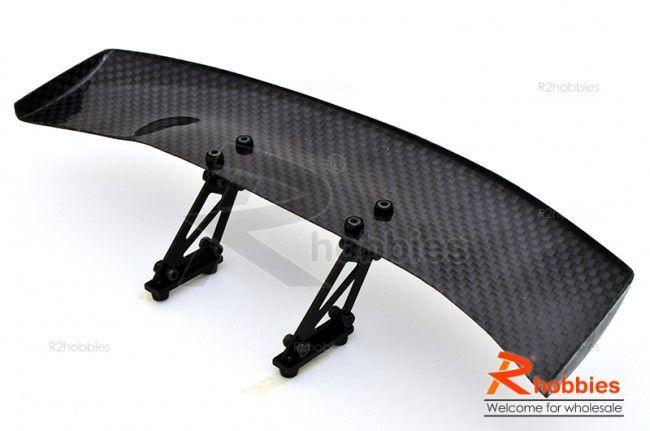 Rc Car Racing >> 1/10 RC Racing Car 185x45mm Carbon Fiber GT Wing Rear Spoiler with Adjustable Stand B & Tool ...