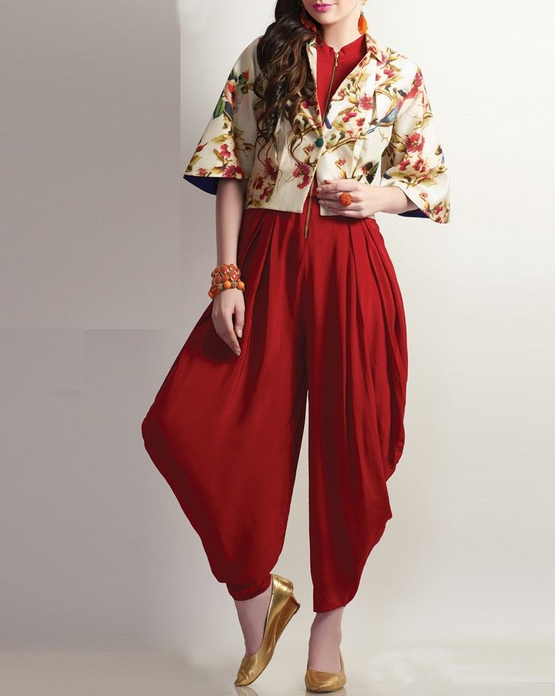 Balloon Jumpsuit With Jacket Indo Western Fashion Pinterest