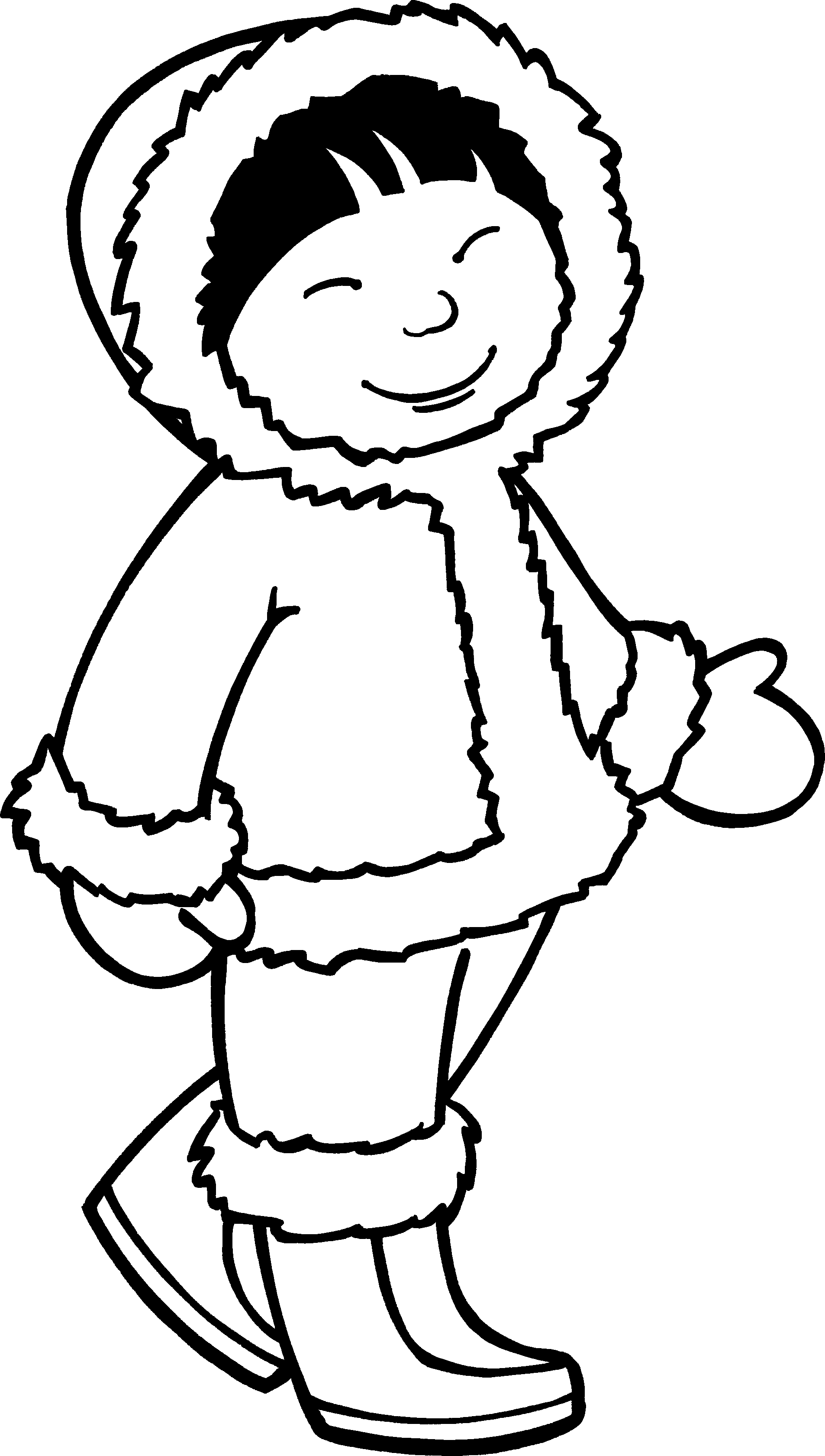 coloring pages eskimo - eskimo girl coloring page zima pinterest girls kids
