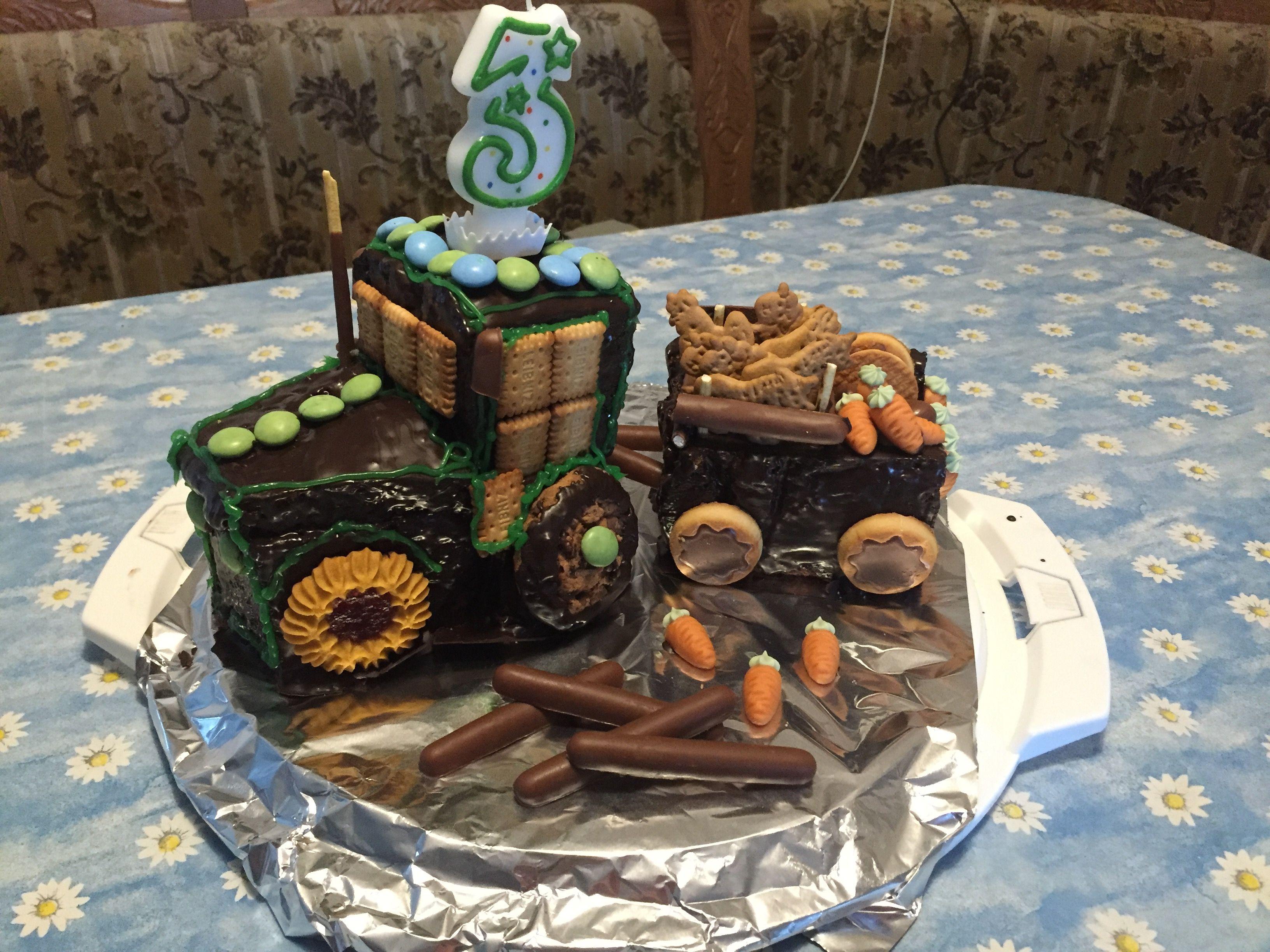 Traktor Kuchen Zum Geburtstag Kindergeburtstag Traktor Kuchen Kinder Kuchen Kindergeburtstagstorte