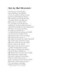 Shel Silverstein Poems Sick 7
