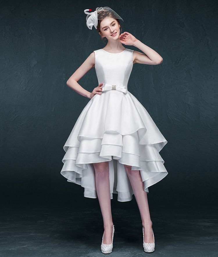 Cheap Vestido De Noiva Buy Quality Directly From China Bridal Gown Suppliers Fast Shipping Short Front Long Back Wedding Dresses 2015 Open