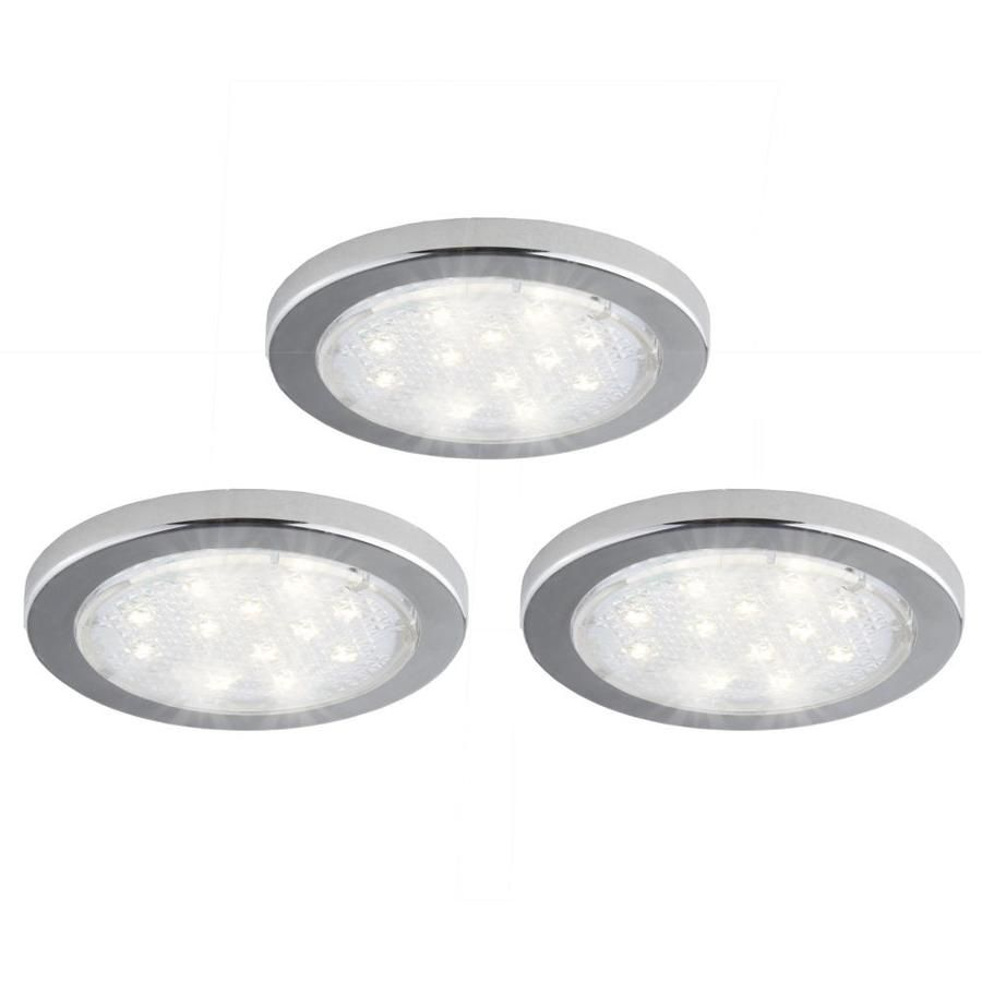 Bazz Led 3 Pack 6 35 In Plug In Puck Under Cabinet Lights Lowes Com Led Puck Lights Puck Lights Under Cabinet Lights
