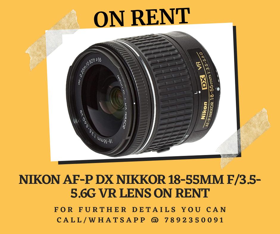 Nikon Af P Dx Nikkor 18 55mm F 3 5 5 6g Vr Lens For Rent Nikon Vr Lens Lens