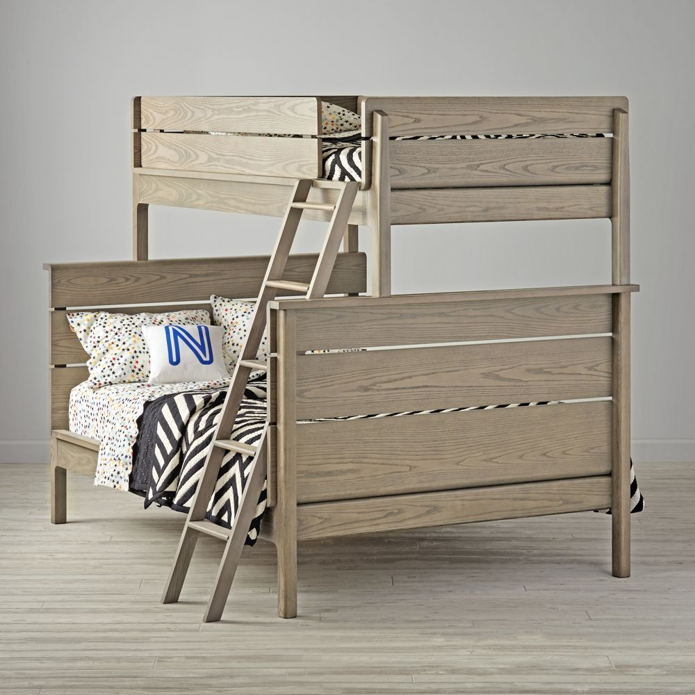 Wrightwood twinoverfull grey stain bunk bed products