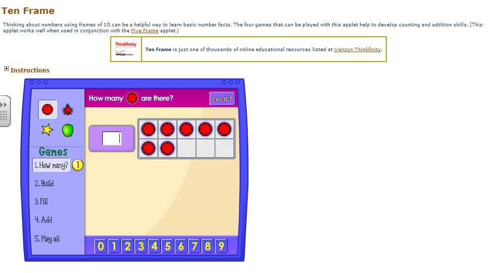 Great interactivefree website (illuminations) for teaching addition ...