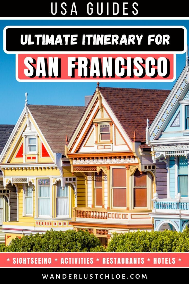 From the Golden Gate Bridge and the fortress of Alcatraz, to the murals of the Mission District and the bright lights of Chinatown – this San Francisco itinerary will give you a great introduction to the city. #sanfrancisco #usa #california #sanfran #onlyinsf #sanfranciscobay #westcoast #goldengate #travelinspiration