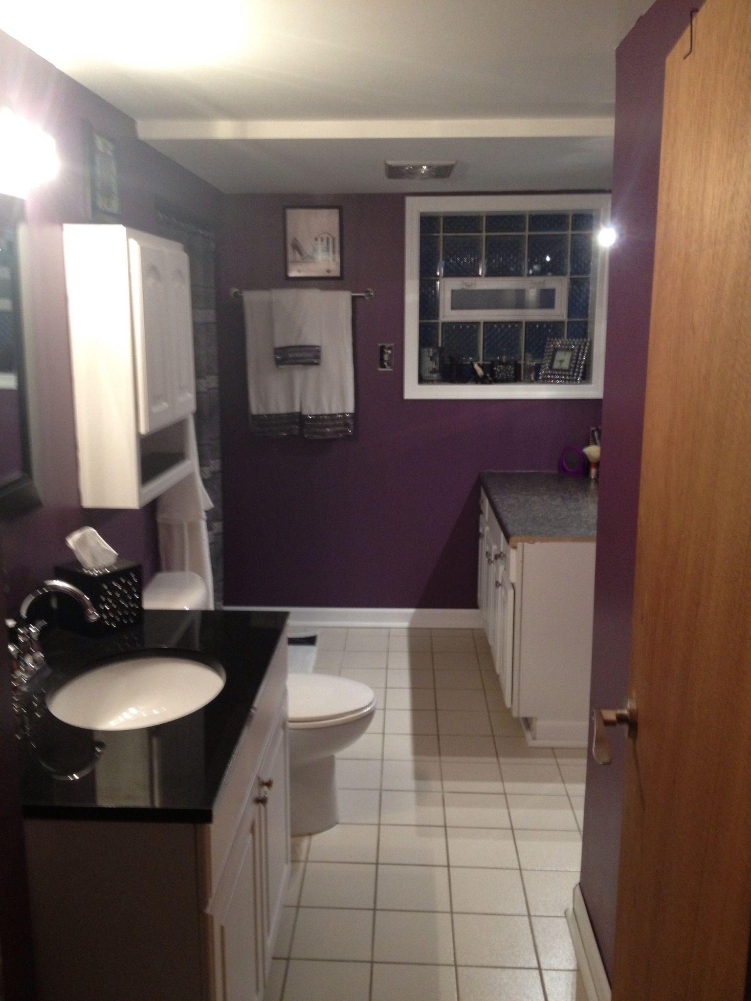 Purple bathroom | Downstairs Bathroom Ideas | Pinterest ...