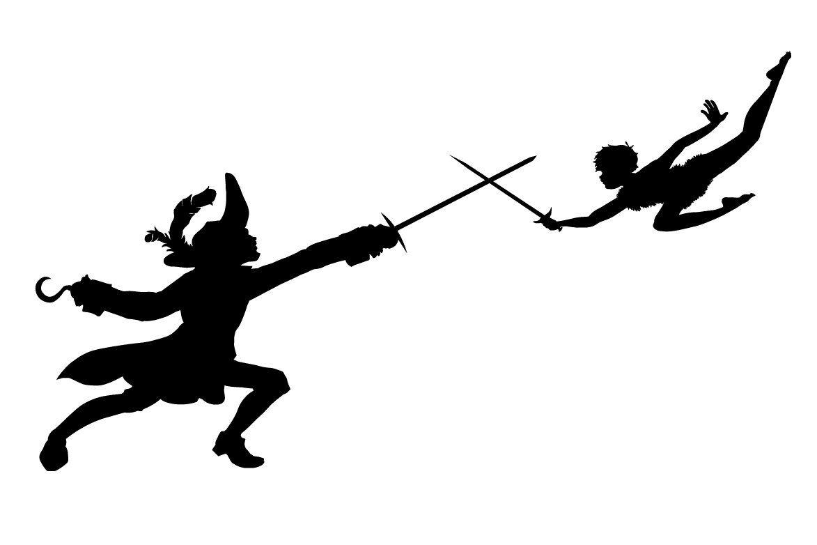 Peterpan6 Jpg Obrazek Jpeg 1173 782 Pikseli Peter Pan Silhouette Peter Pan Art Captain Hook Peter Pan