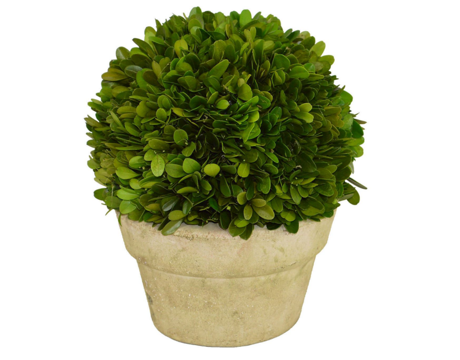 Topiary in a planter: http://www.stylemepretty.com/living/2015/11/07/spotted-on-saturday-pieces-to-make-your-mantel-sparkle/