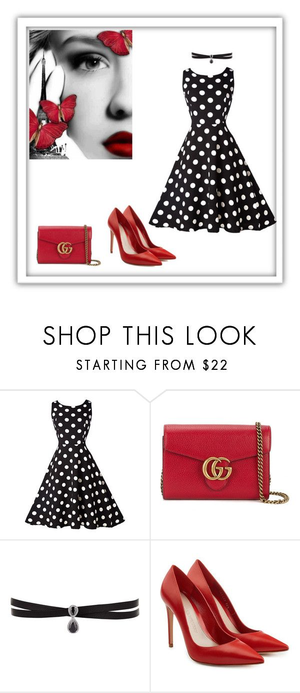 """Untitled #214"" by saturn43210 ❤ liked on Polyvore featuring Gucci, Fallon and Alexander McQueen"