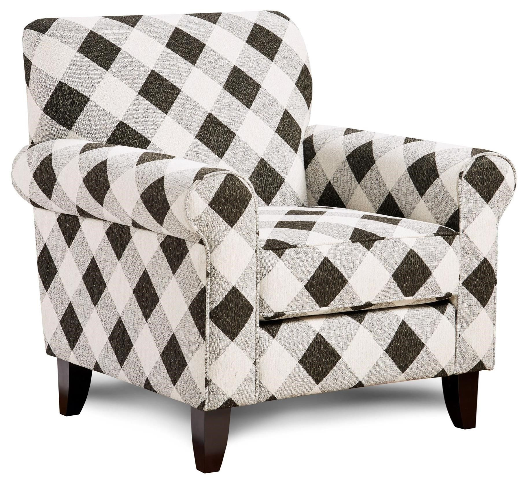 512 Accent Chair With Rolled Arms By Fusion Furniture