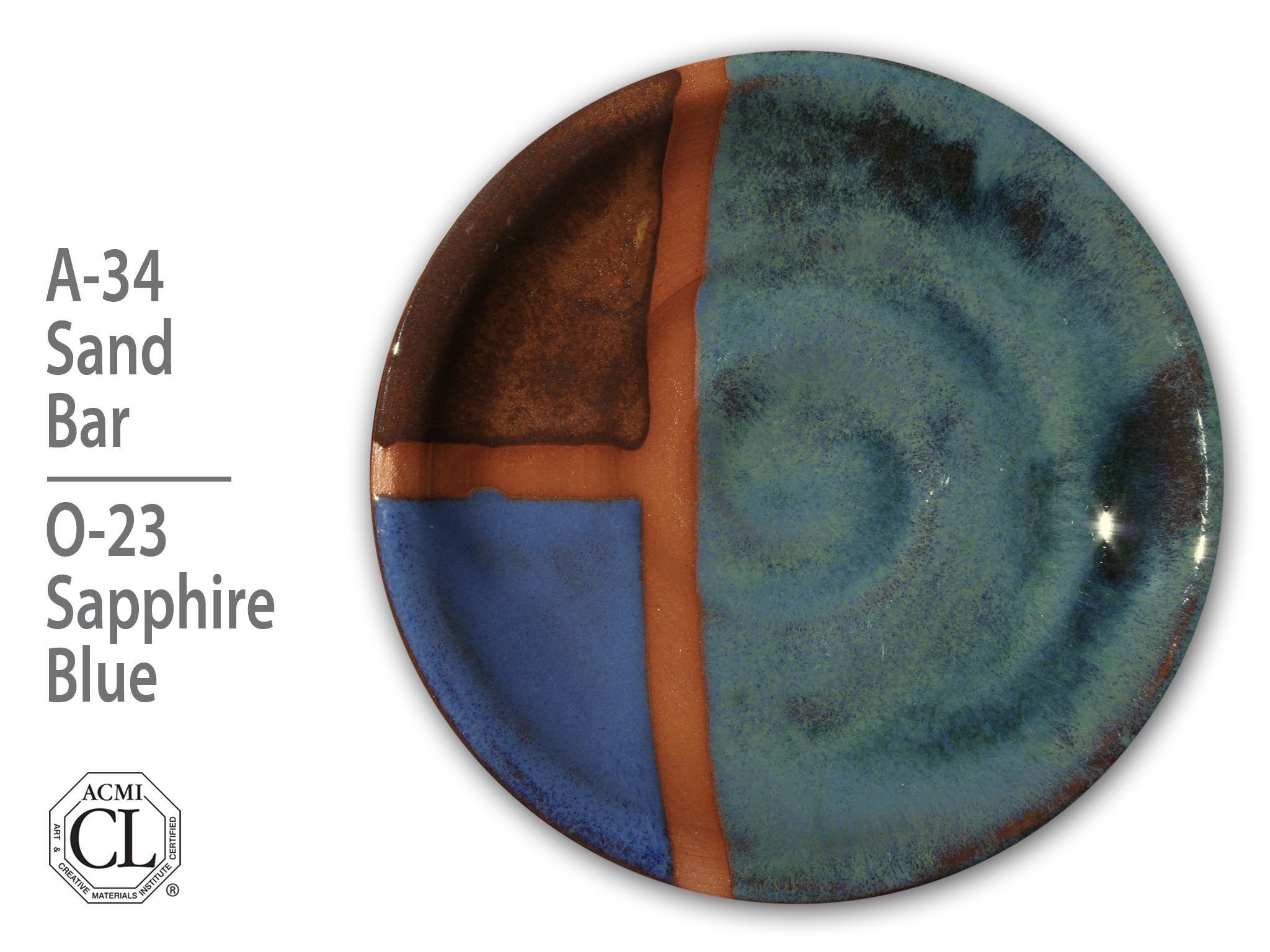 Artists Choice Sandbar a34-over Opalescent-o23 Sapphire Blue-