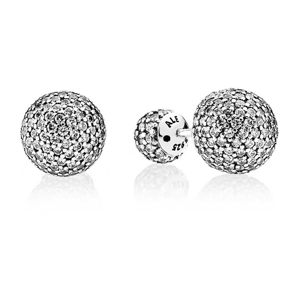 df5bbfc15f856 PANDORA Pave Drops Earrings, Clear CZ in 2019 | Pretty Pandora ...