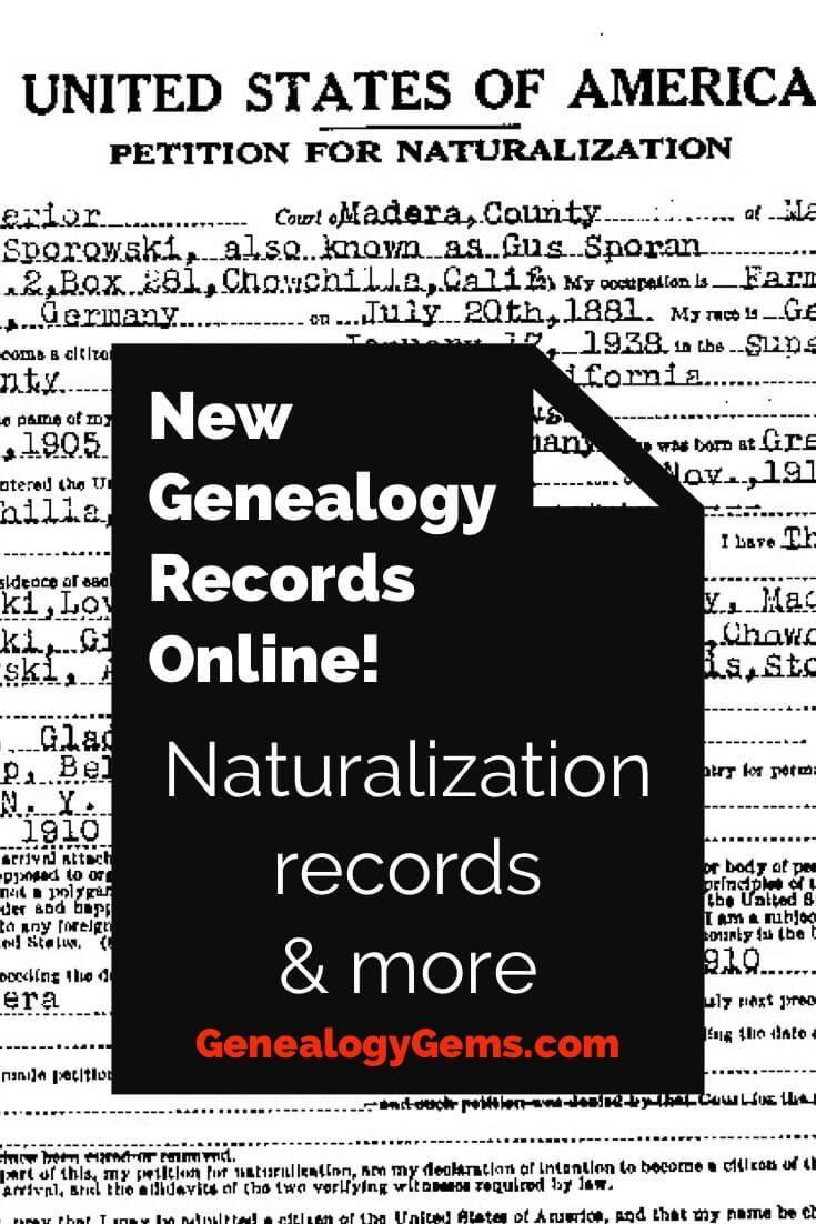 New Genealogy Records Online! #genealogy