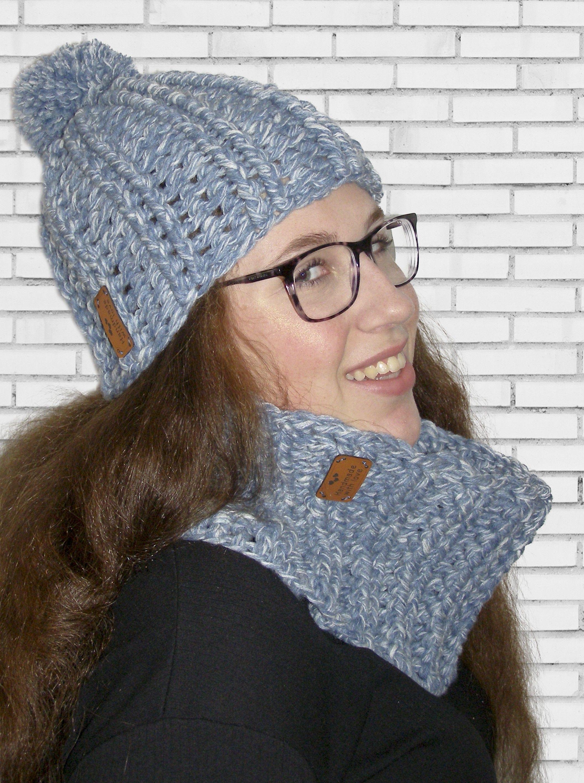 Muts En Col 3 Bollen Marl Wool Haaknaald 8 Crochet My Own