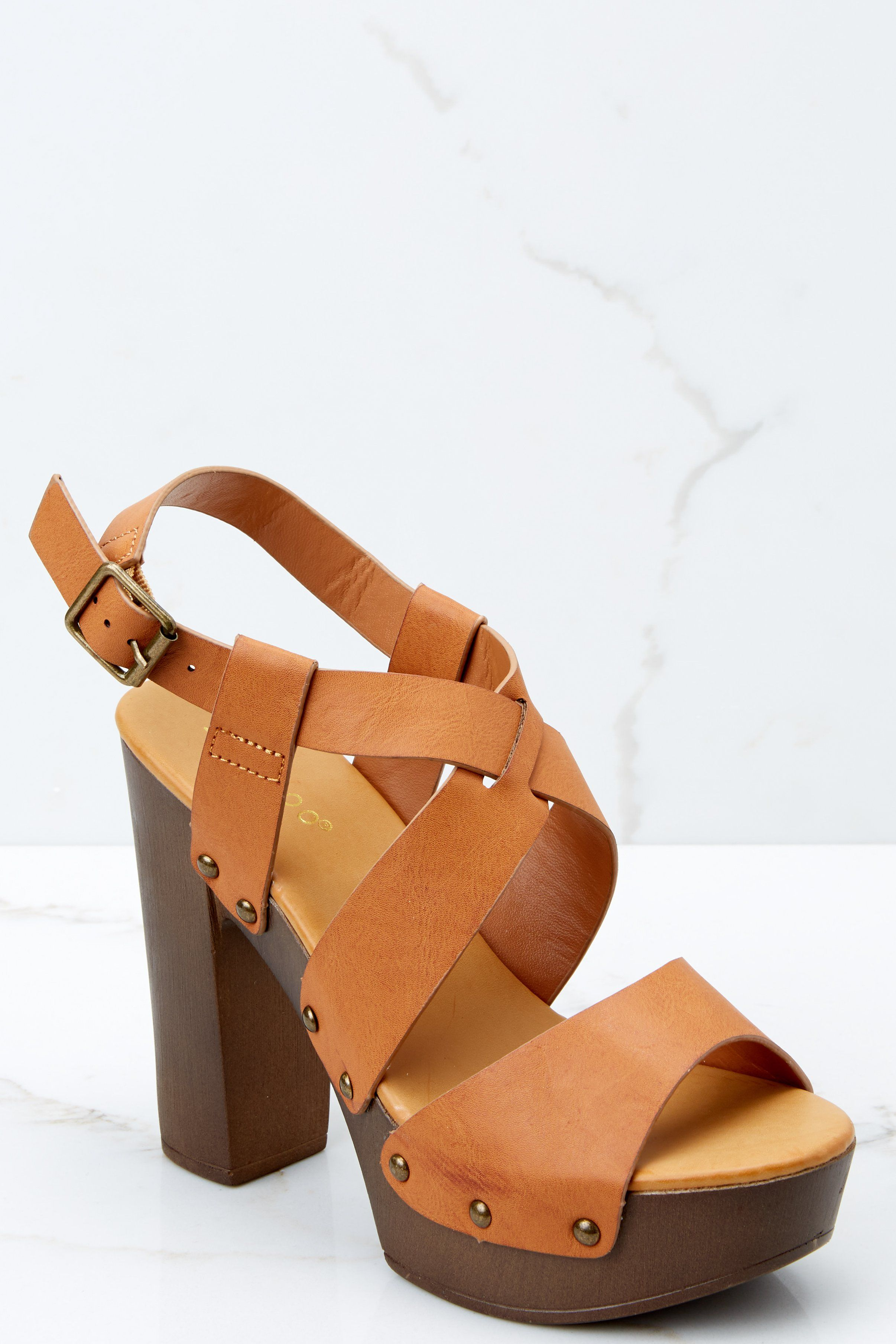 a8bb6e2d3f51 Trendy Brown Ankle Strap Heels - Cute Heels - Heels -  39.00 – Red Dress  Boutique