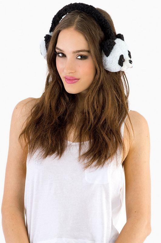 Panda Earmuffs omgggg I wanna :):):):)<333