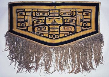Chilkat Blanket (naaxien) from the Native American Collection at the UVa Art Museum