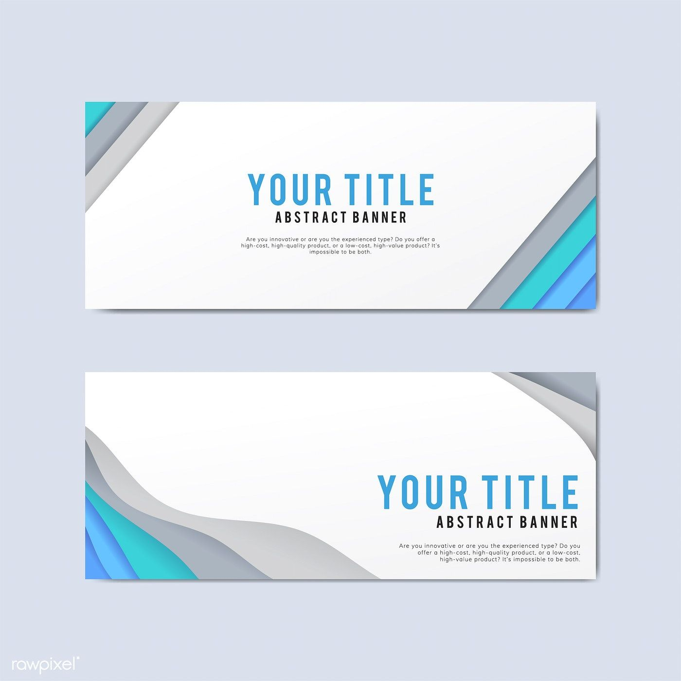 Colorful And Abstract Banner Design Templates Free Image By Rawpixel Com
