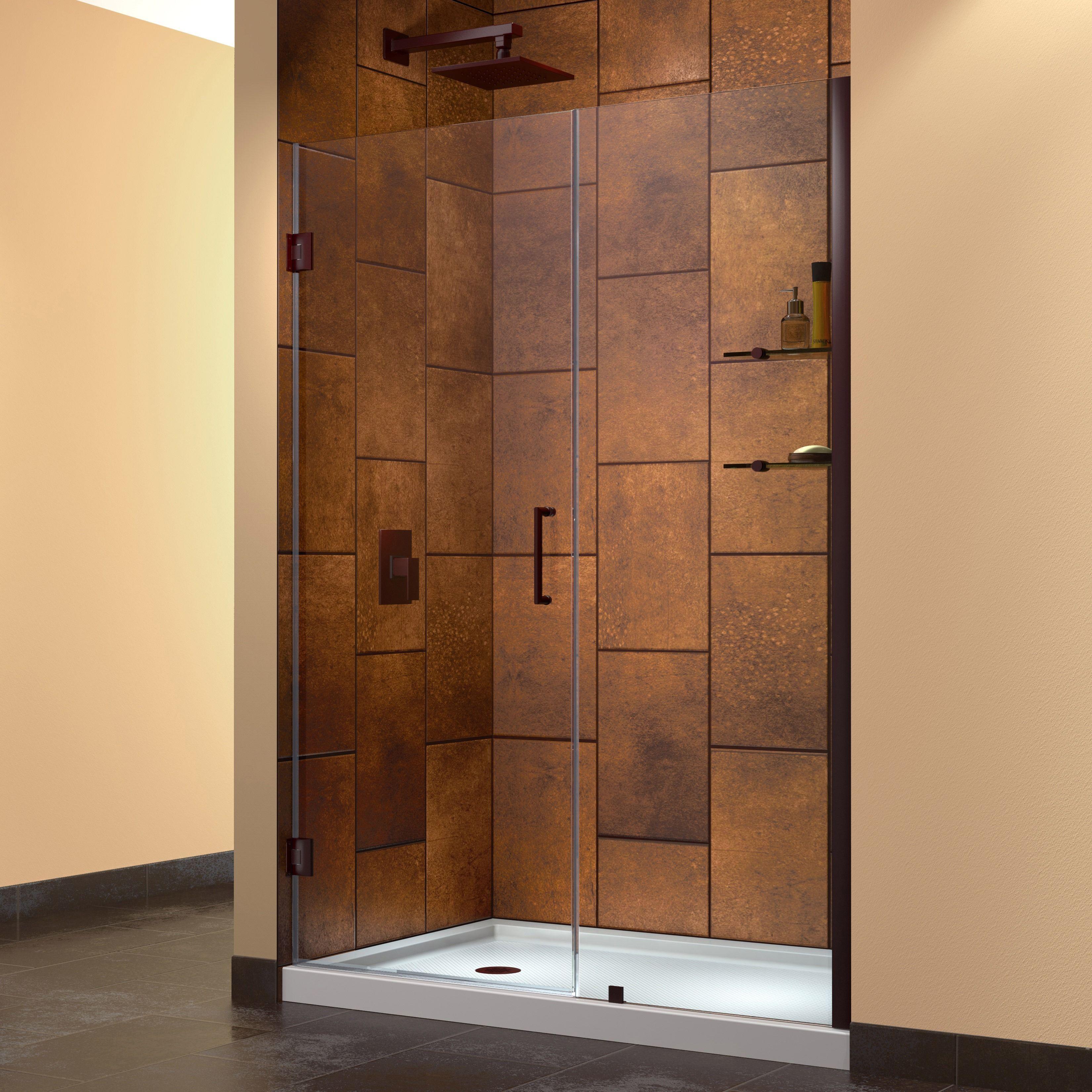 Dreamline Unidoor 54 55 Inch Frameless Hinged Shower Door ن