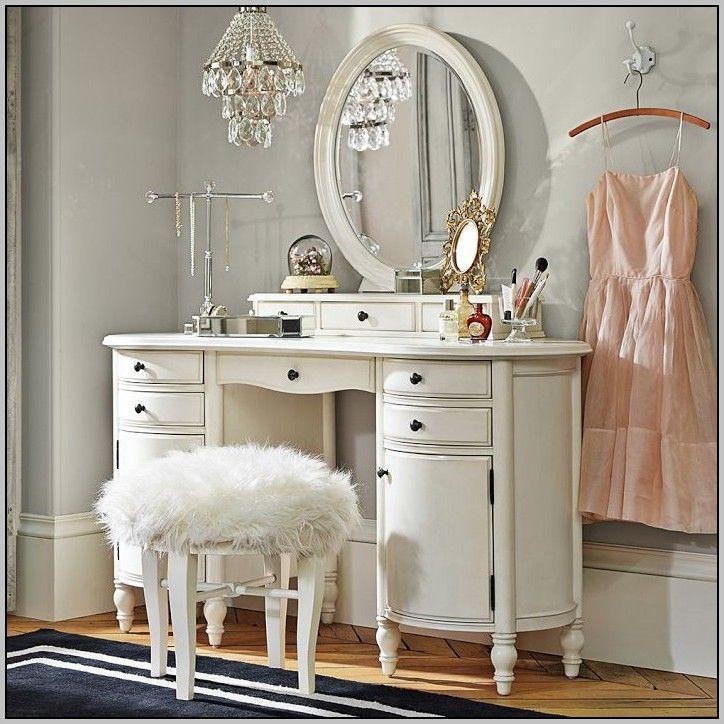 Makeup storage desk ikea desk home furniture design for Bedroom vanity ikea