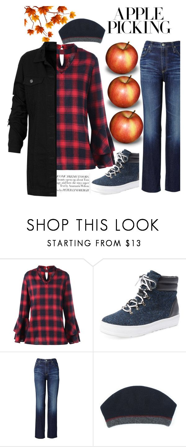 """Apple picking"" by karenzo ❤ liked on Polyvore featuring F-Troupe, AG Adriano Goldschmied and apple"