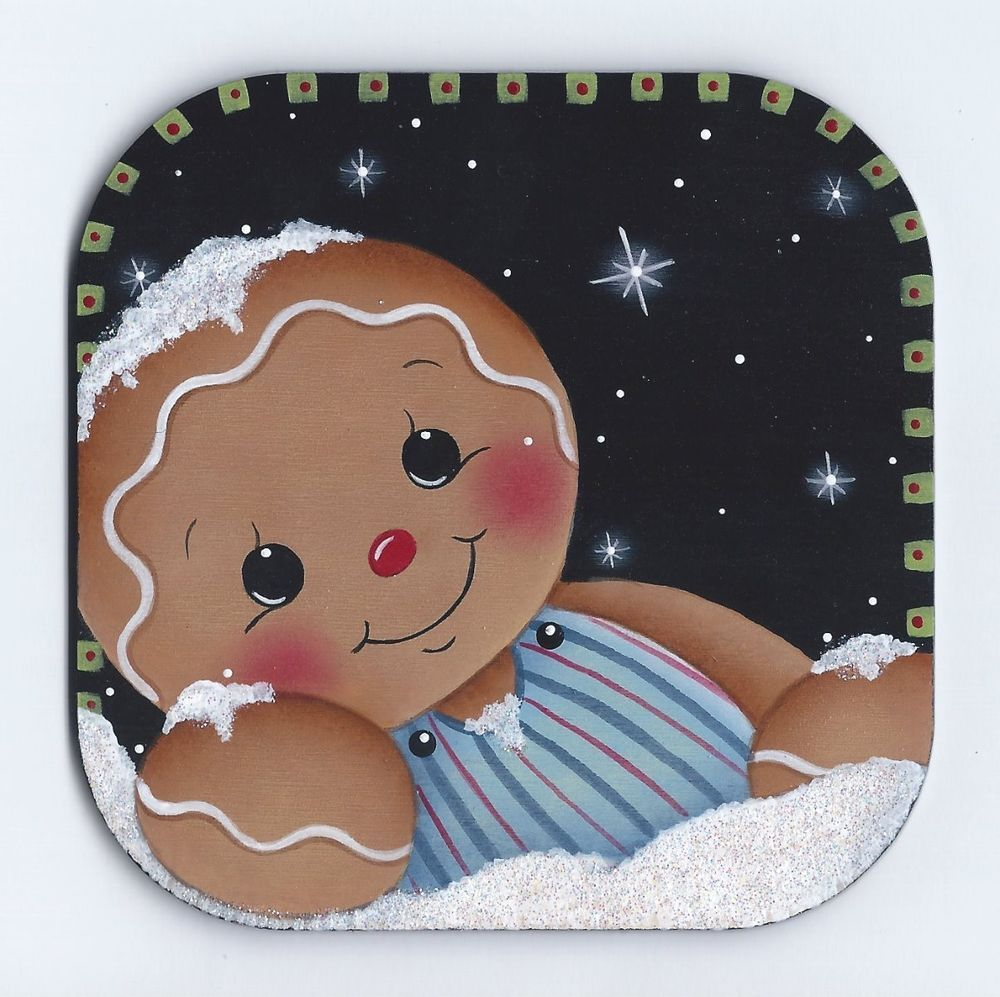 Hp Gingerbread Watching The Snow Fall Fridge Magnet