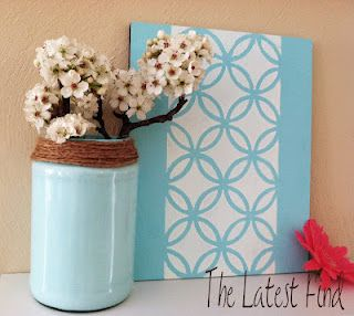 Simple Pickle Jar, painted easily from the inside out.  Looks perfect and would take so little time!