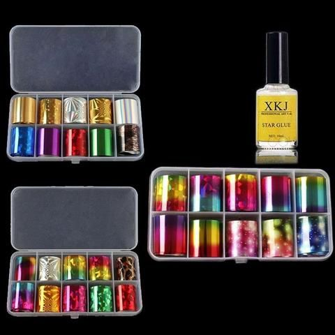 1 Box Holographic Nail Foil Set 2.5*100cm Laser Starry Nail Sticker ...