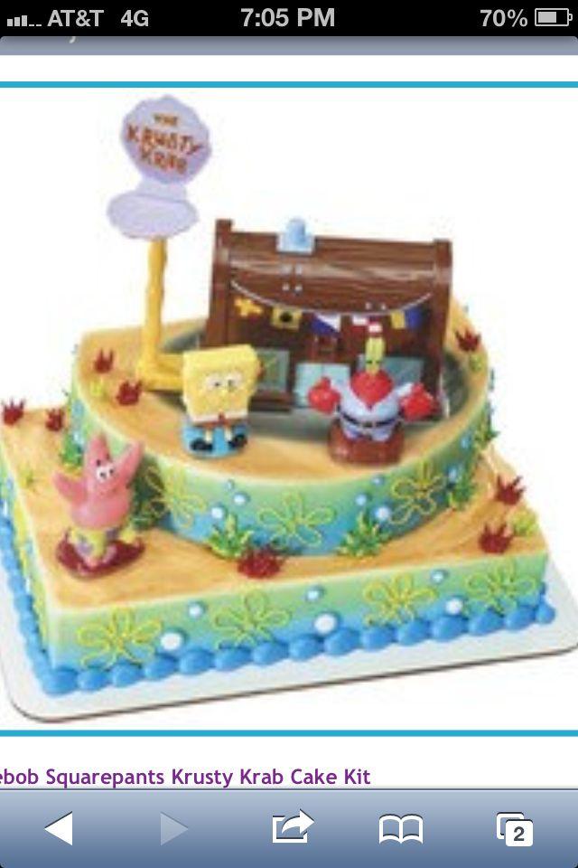 Spongebob Cake Rosies Bday Party Ideas Pinterest Cake