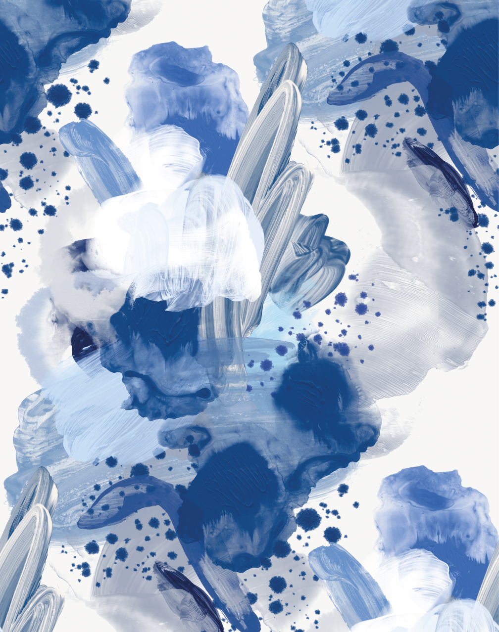 English Rose Blue In Blue And White Wallpaper Wallpaper Stores Wallpaper