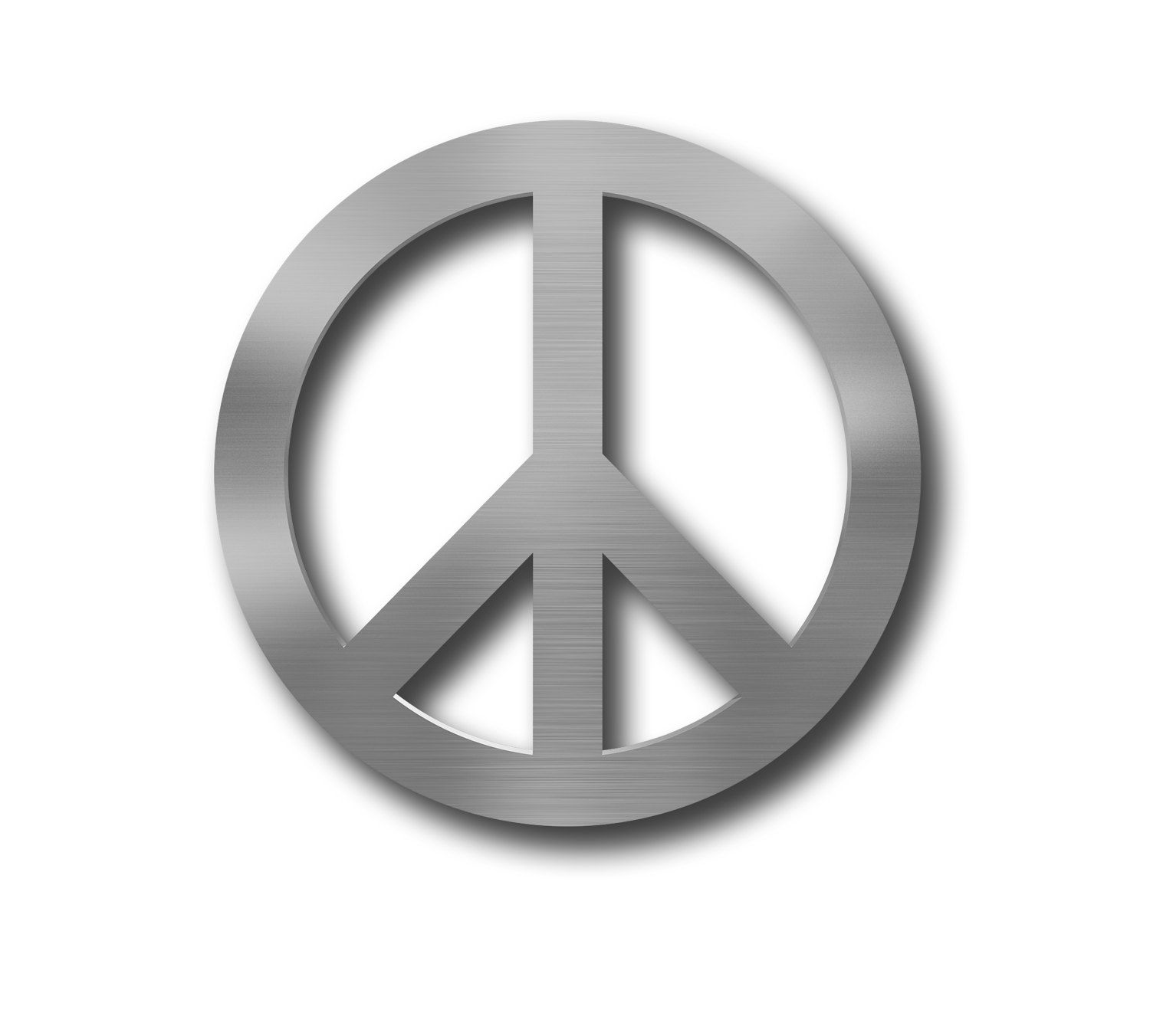 Peace Symbol Metal Wall Art Circle Sign Decor Large