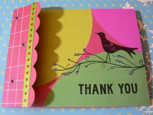 Triangle Filled Thanks With Images Handmade Thank You Cards