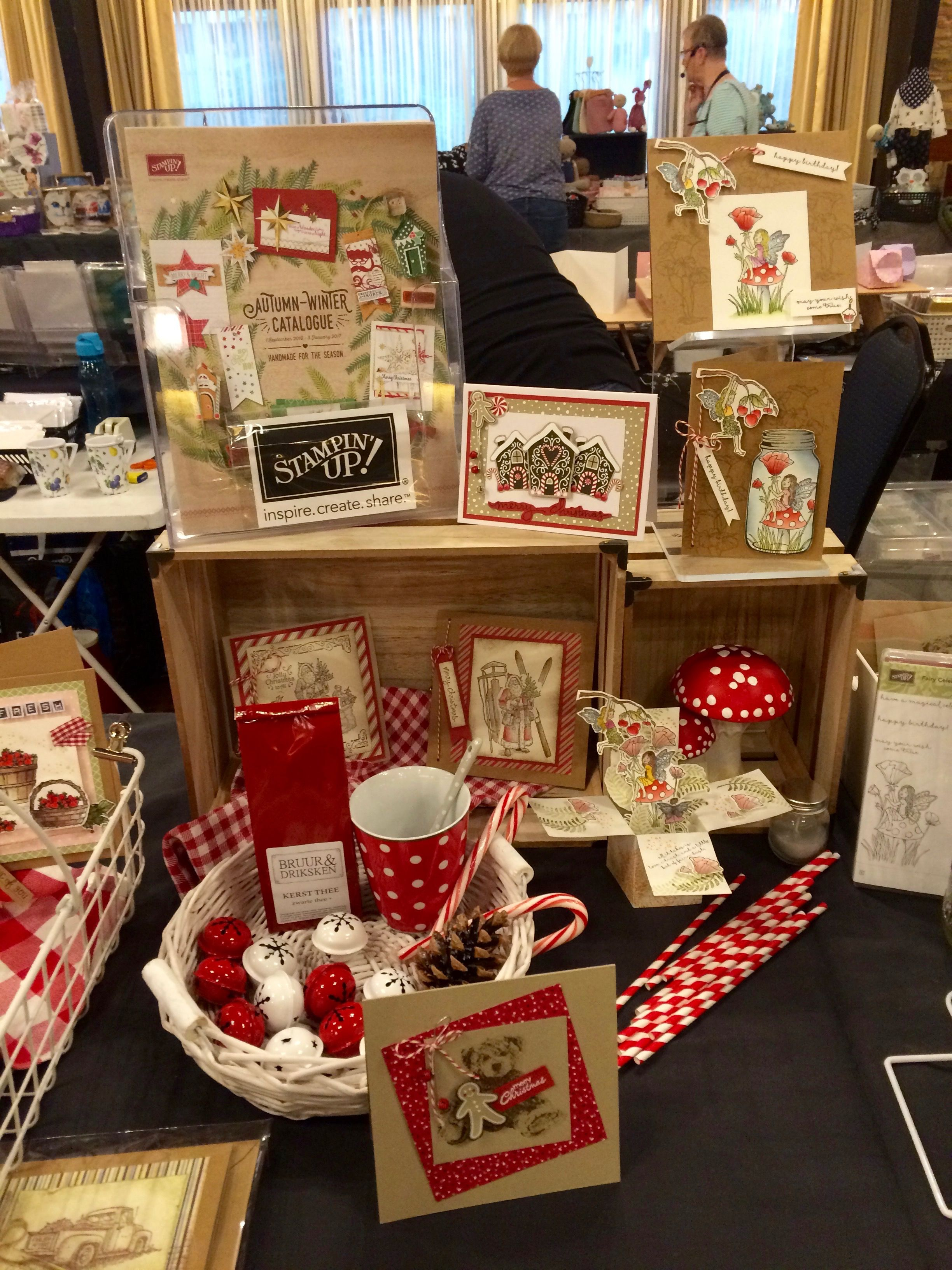 Charming Stampin Up Christmas Craft Fair Ideas Part - 4: Craft Fair Display/Kerstmarkt/Weihnachtsmarkt - Candy Cane Lane DSP, Stampinu0027  Up