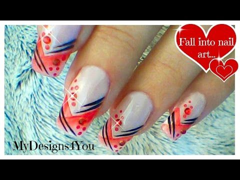 Abstract Nail Art Design Tutorial How To Gradient Red Nails