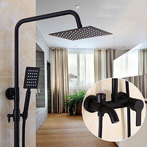 DXDJ matt schwarzen / kupfer anzug möglich dusche