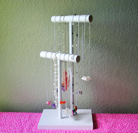 Long Necklace Holder - 30 Color Choice - Holds Necklaces up to 36 Inches - Jewelry  Organizer Stand