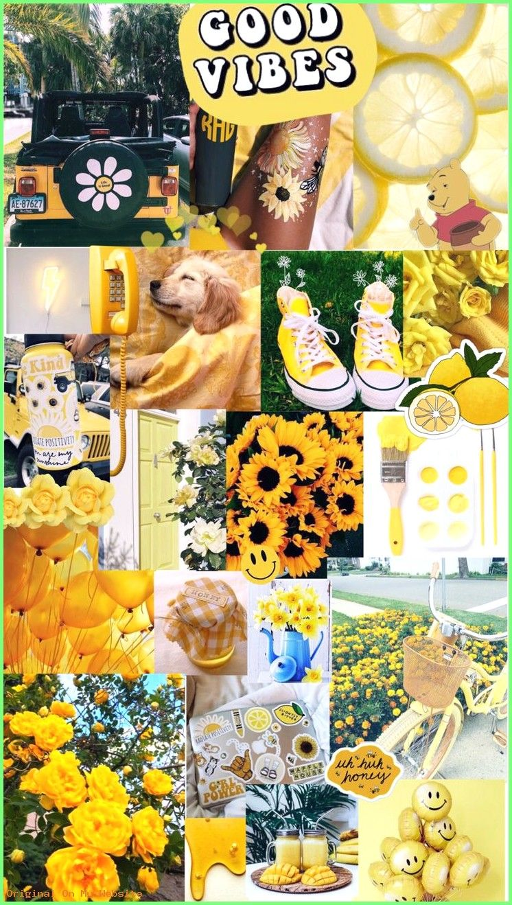 Wallpaper Tumblr yellow aesthetic background Arkaplan